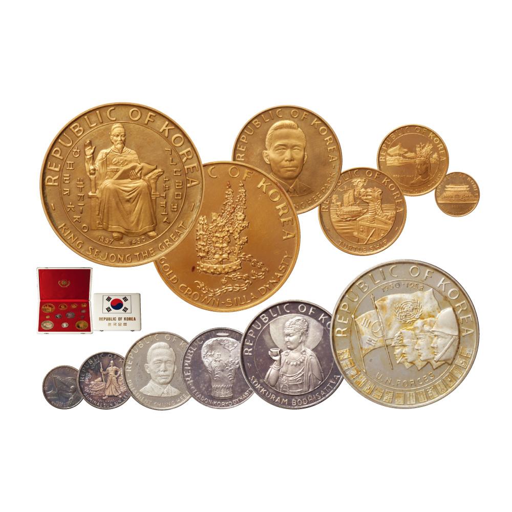 '5000年 영광사 기념' 금·은화 12종 세트 - 파리민트